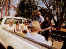 On the Zambeef farm with Edwin