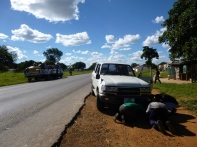 Broken Down on the way back to Mpongwe