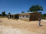 Visiting the school of some of the orphans