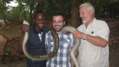 This boa constrictor had pretty powerful muscles, hence my slightly unsettled expression!