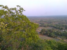 The view from the top of Fiwale Hill.